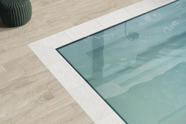 swimming pool Beige and Blue tiles Modern style Wellness and Swimming Pools