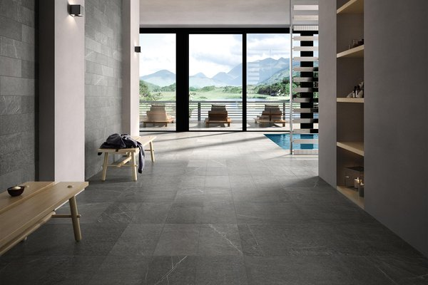 swimming pool Grey tiles Modern style Wellness and Swimming Pools