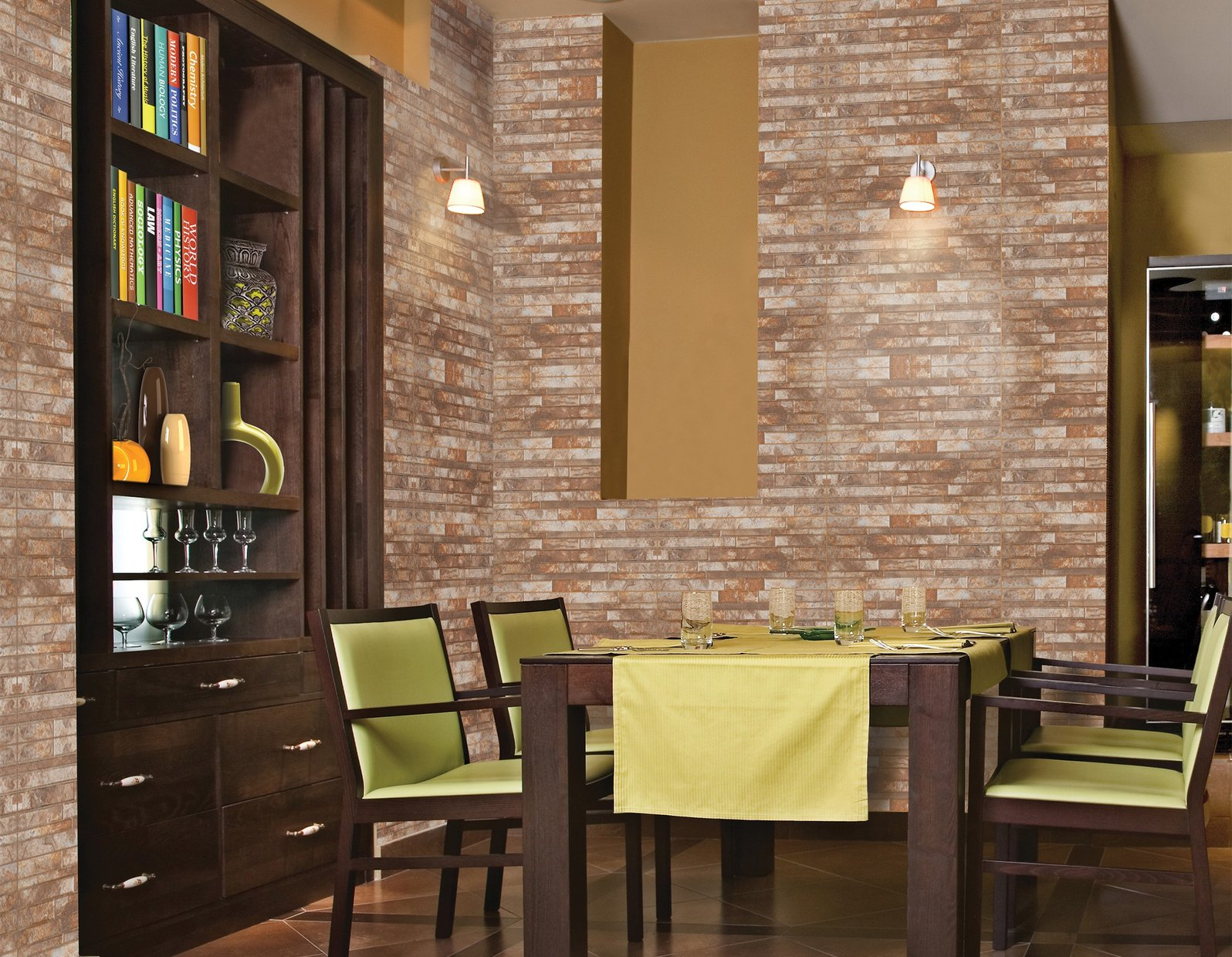 urban stone Brown and Mix tiles Modern style Living