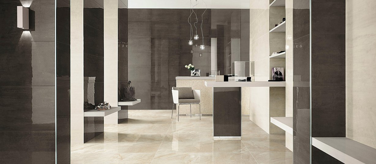 vermont Beige and White tiles Modern style Light Commercial