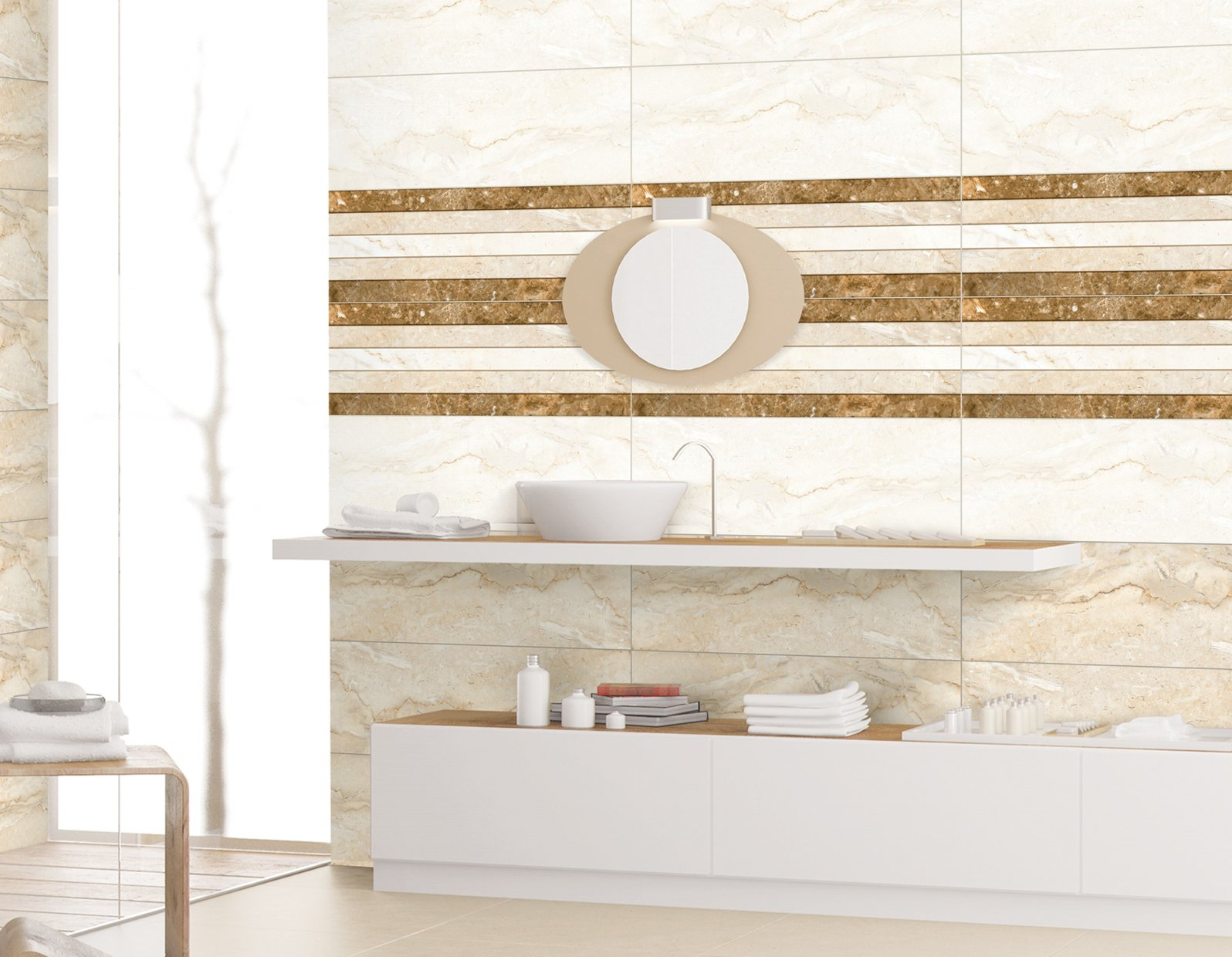 viola Mix tiles Modern style Bathroom