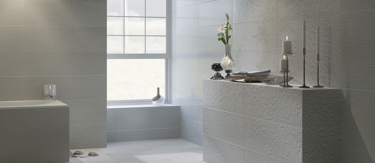 wels White tiles Modern style Bathroom